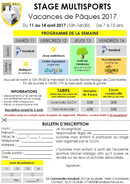 Flyer stage Pâques 17 VF