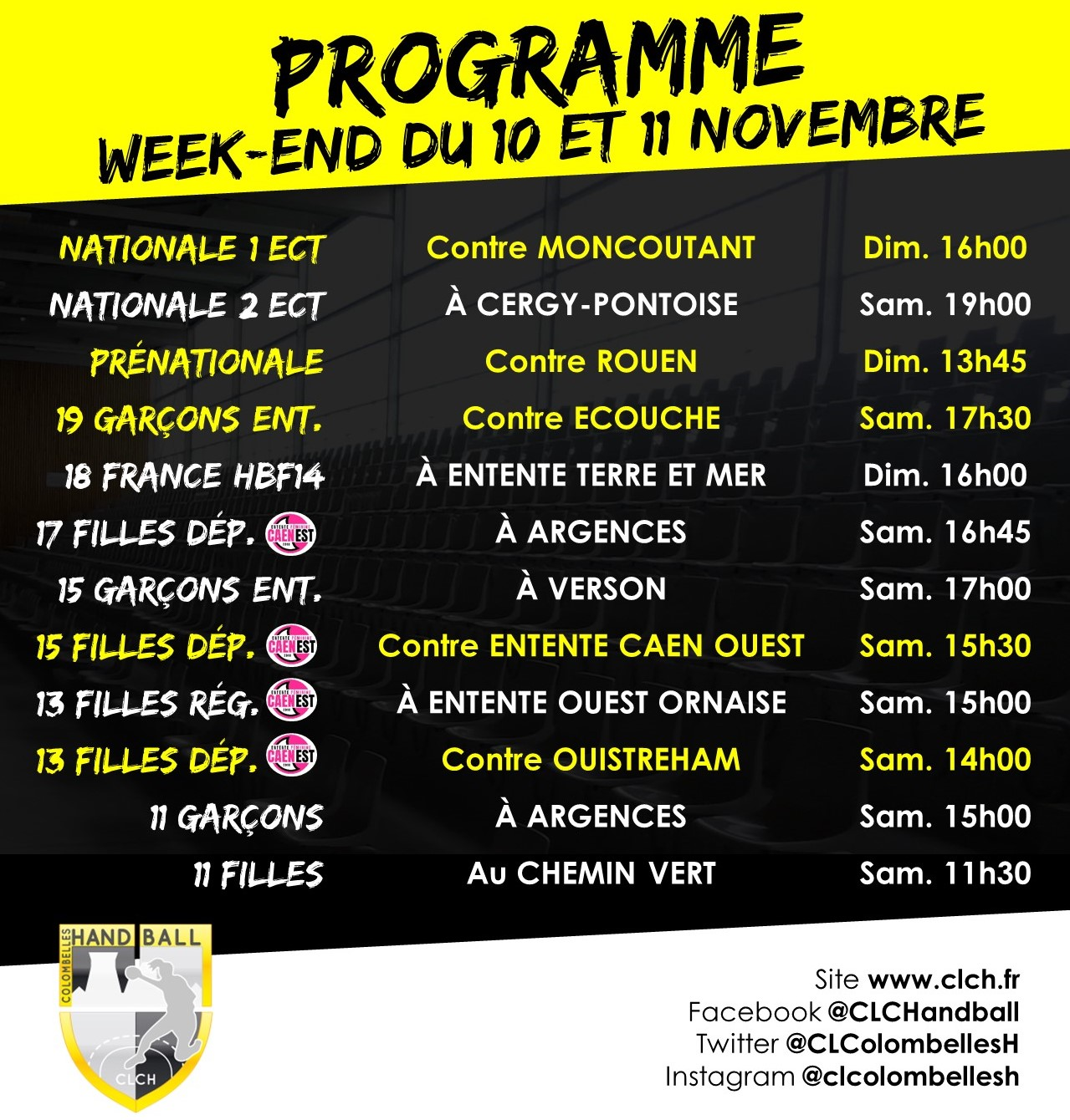 PROG WEEKEND 10-11 NOV