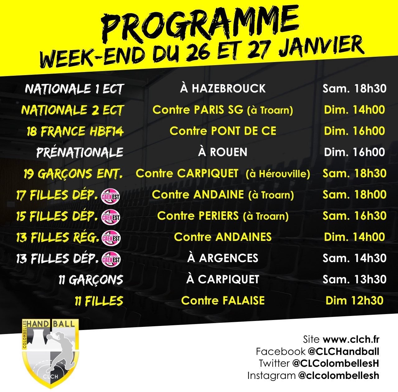 PROG WEEKEND 26-27 JANV