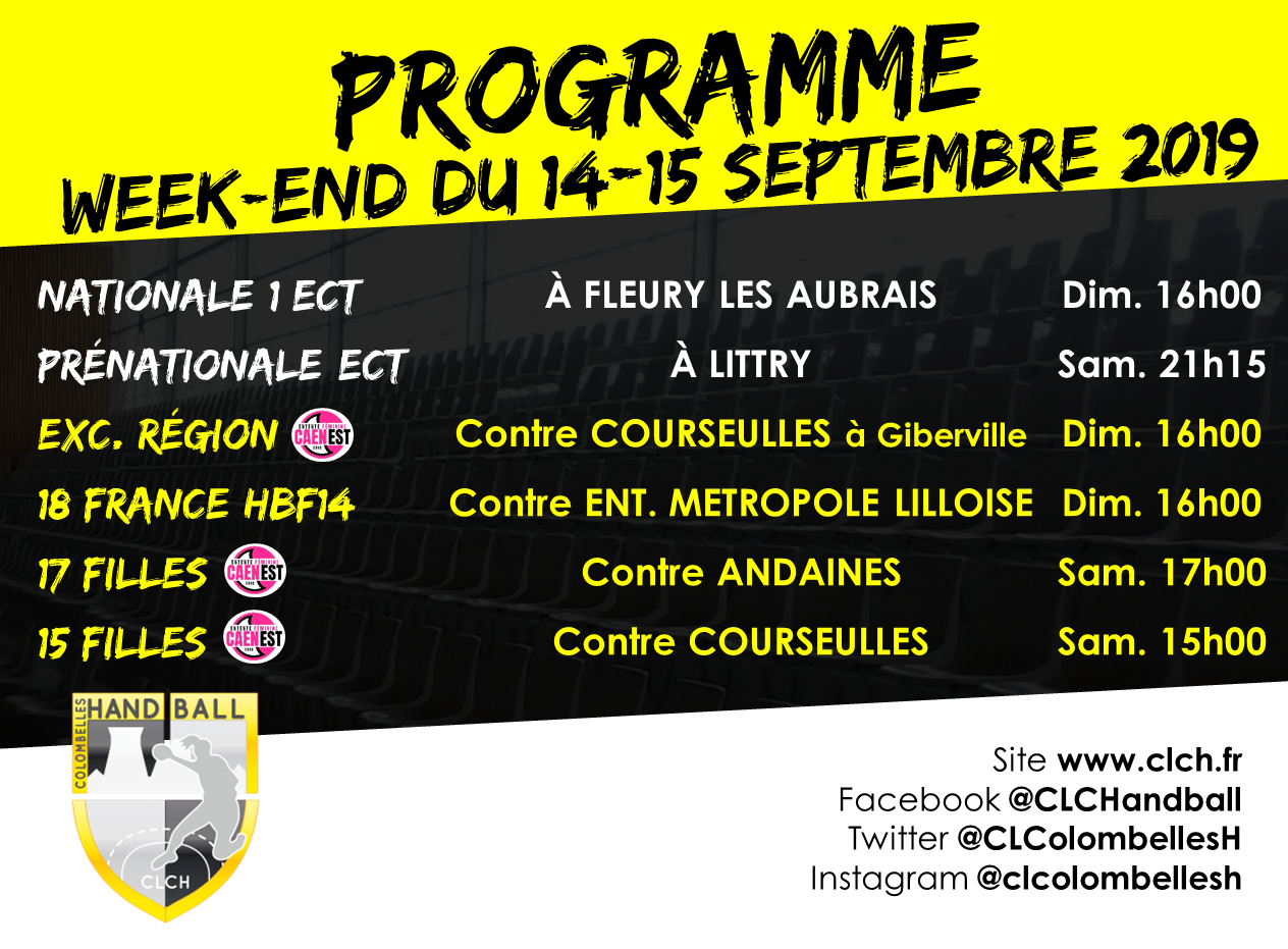 PROG WEEKEND 14-15 septembre