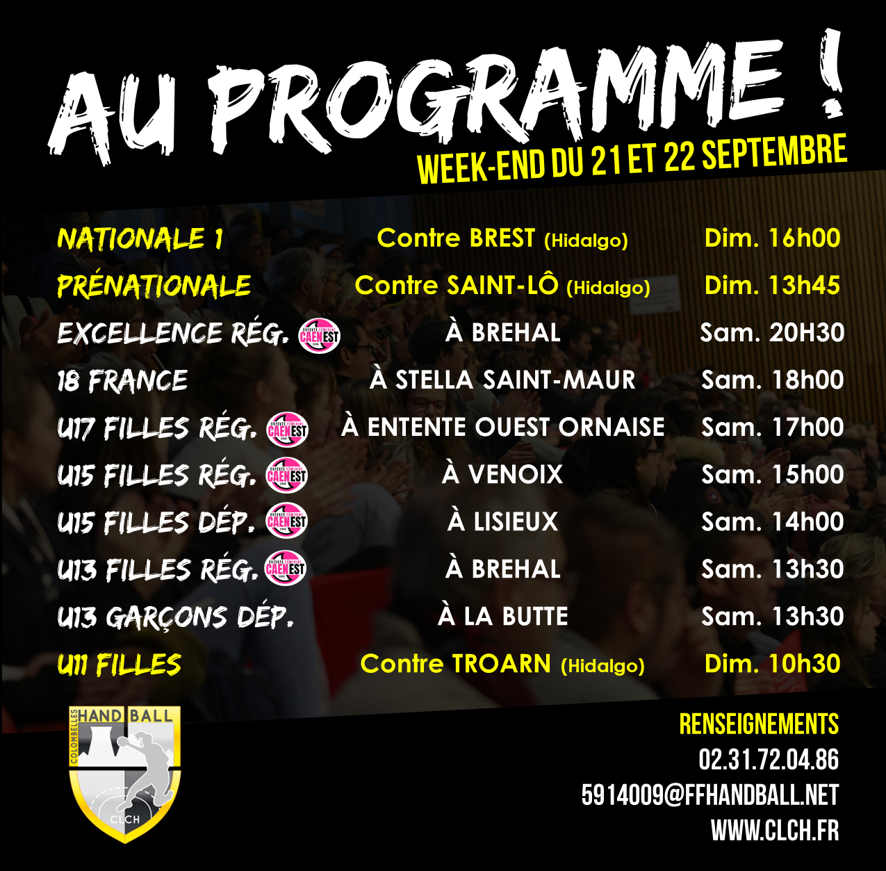 PROG WEEKEND 21-22 septembre
